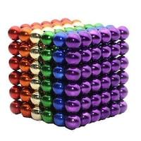 Ügyességi játék, Zanox, Neocube 216 mágneses golyók, Multicolor, 6 szín, 5 mm