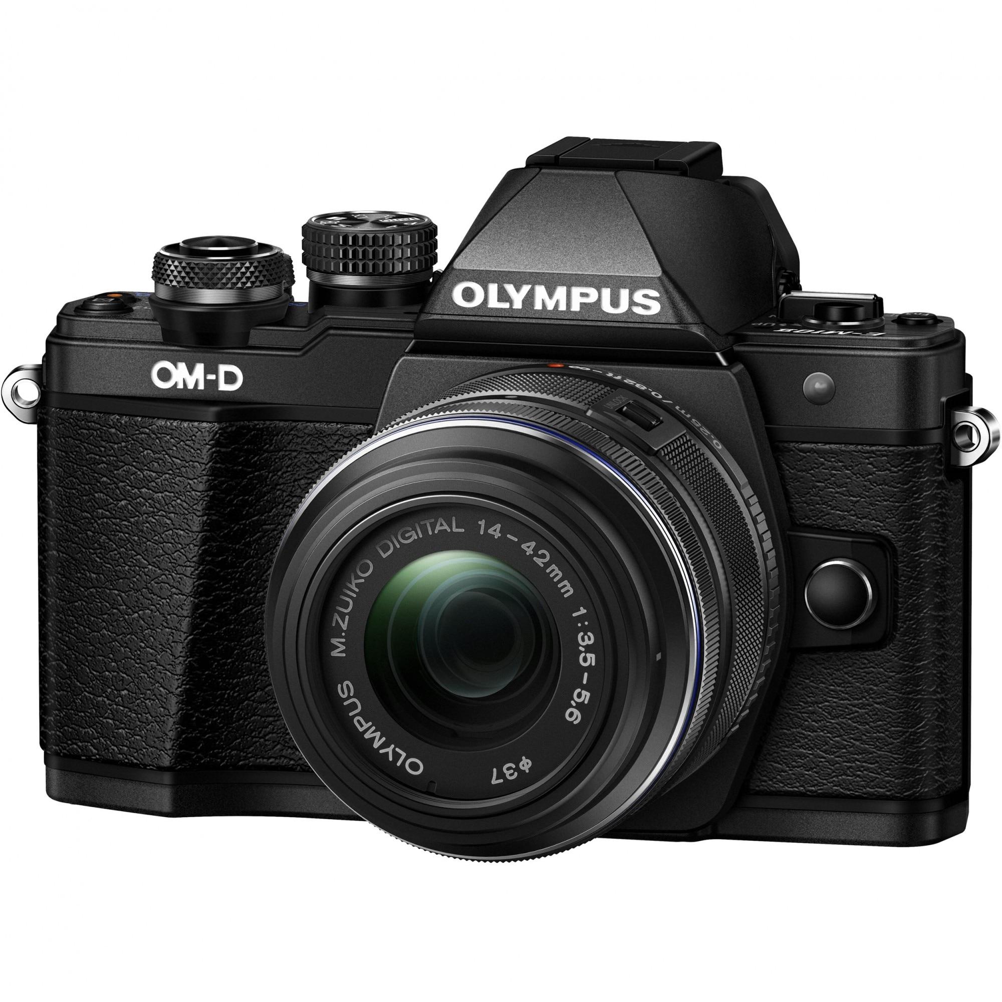 Fotografie Aparat foto mirrorless Olympus OM-D E-M10II 1442 IIR, Black + Obiectiv 14-42mm EZ-M1442 IIR, Black