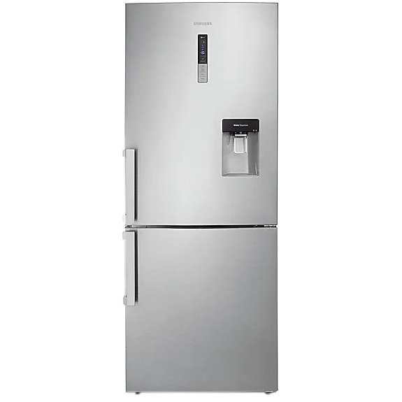 Fotografie Combina frigorifica Samsung RL4363FBASL/EF, 432 l, Clasa F, Full No Frost, Touch control, Dozator apa, Rafturi sticla, H 185 cm, Inox