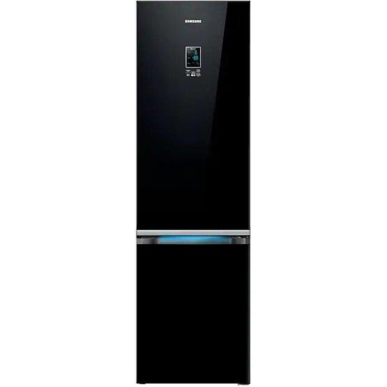 Fotografie Combina frigorifica Samsung RB37K63632C/EF, 367 l, Full NoFrost, Touch control, Clasa A++, H 207 cm, Sticla neagra