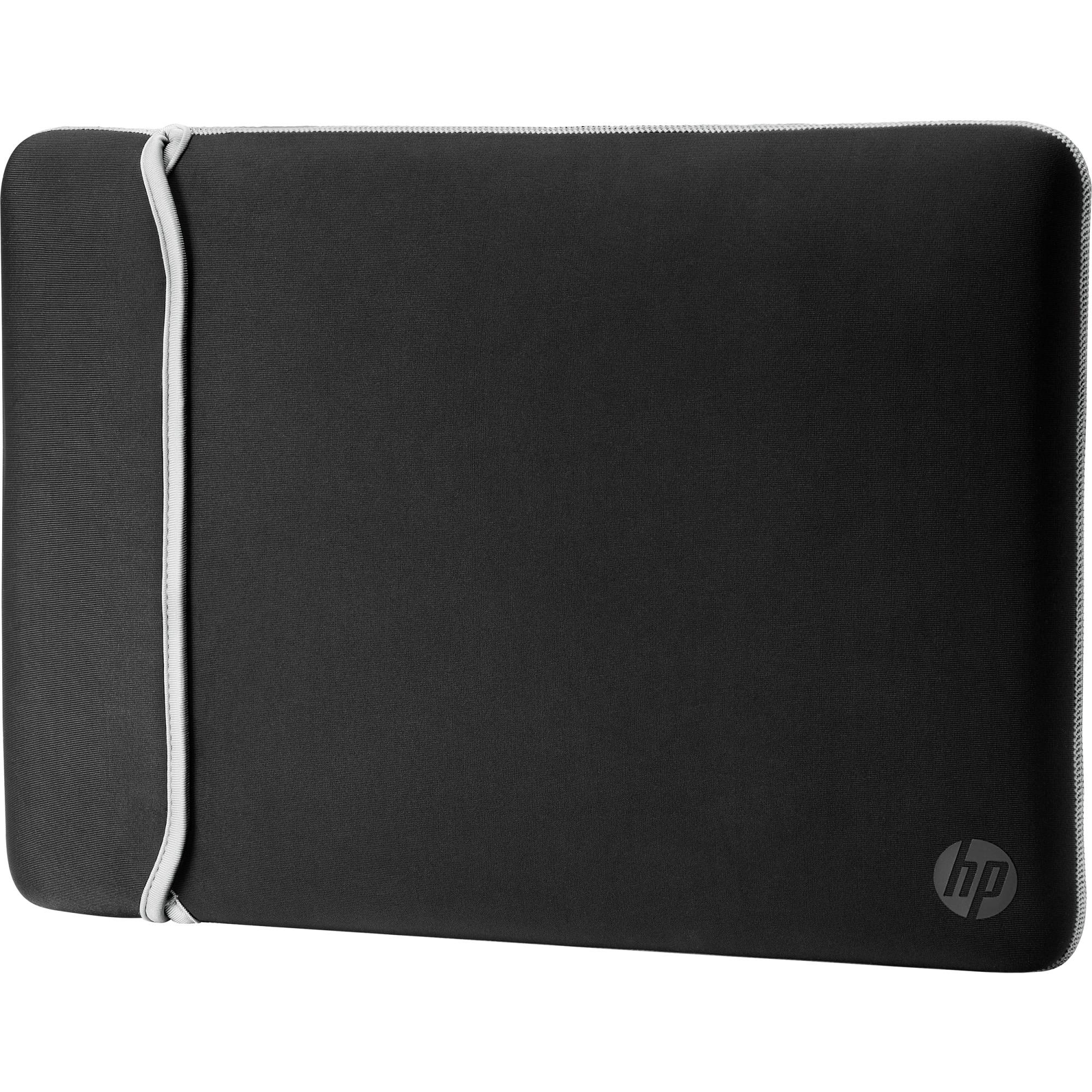 "Fotografie Husa laptop HP Neoprene Reversible Sleeve 15.6"", Negru/Argintiu"