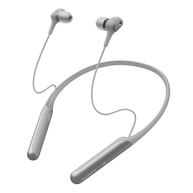 Fotografie Casti in ear Sony WI-C600NH, Noise Canceling AI, Google Assistant, Wireless, Bluetooth, NFC, Autonomie 6,5 ore, Argintiu
