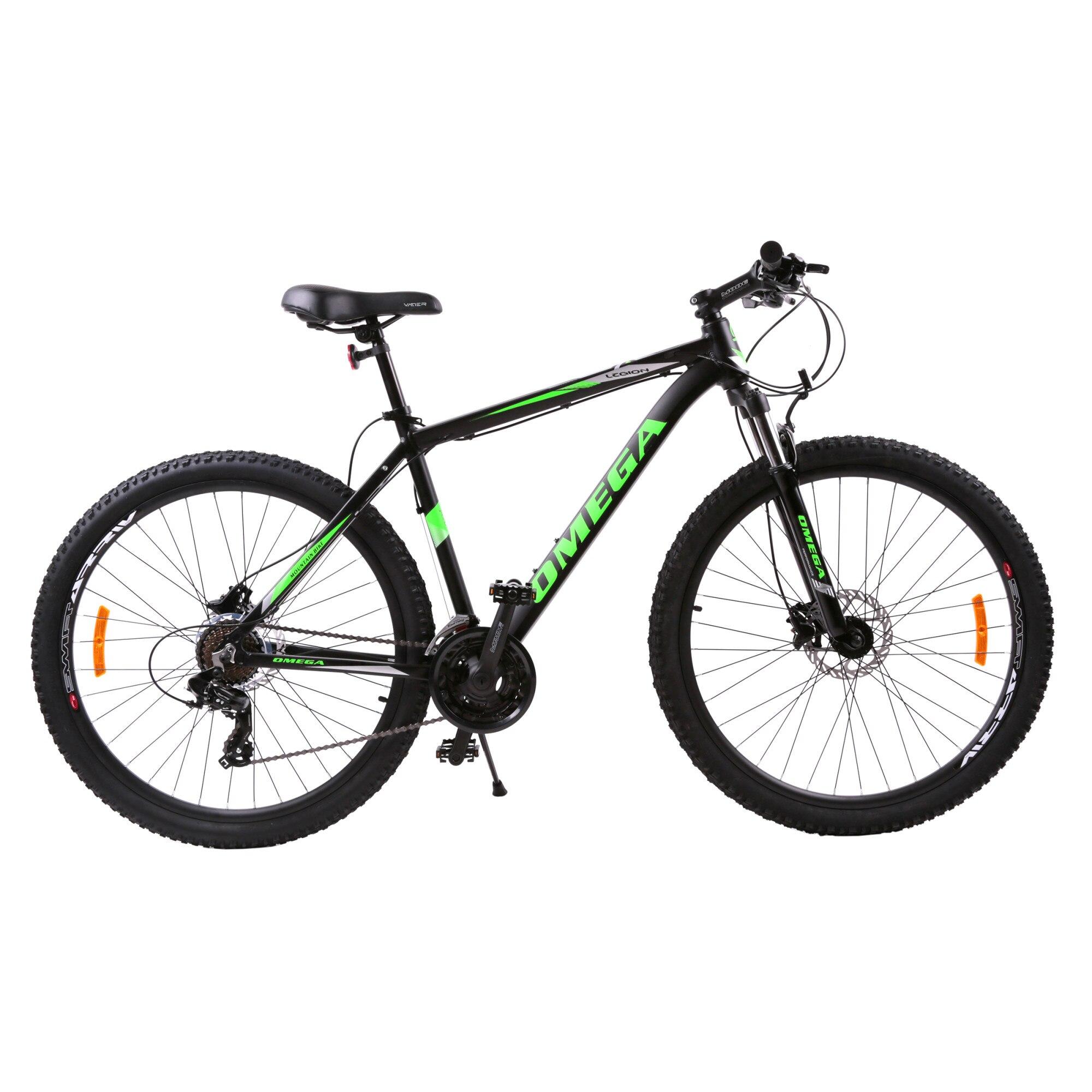 Fotografie Bicicleta MTB 29-er Omega Legion, Hidraulic disk, Black/Green