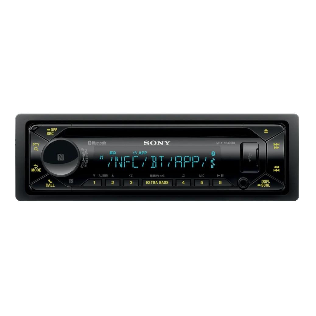 Fotografie Radio CD auto Sony MEXN5300BT, extra bass, bluetooth, NFC, FLAC, Siri Eyes Free, amplificator, 4 x 55W