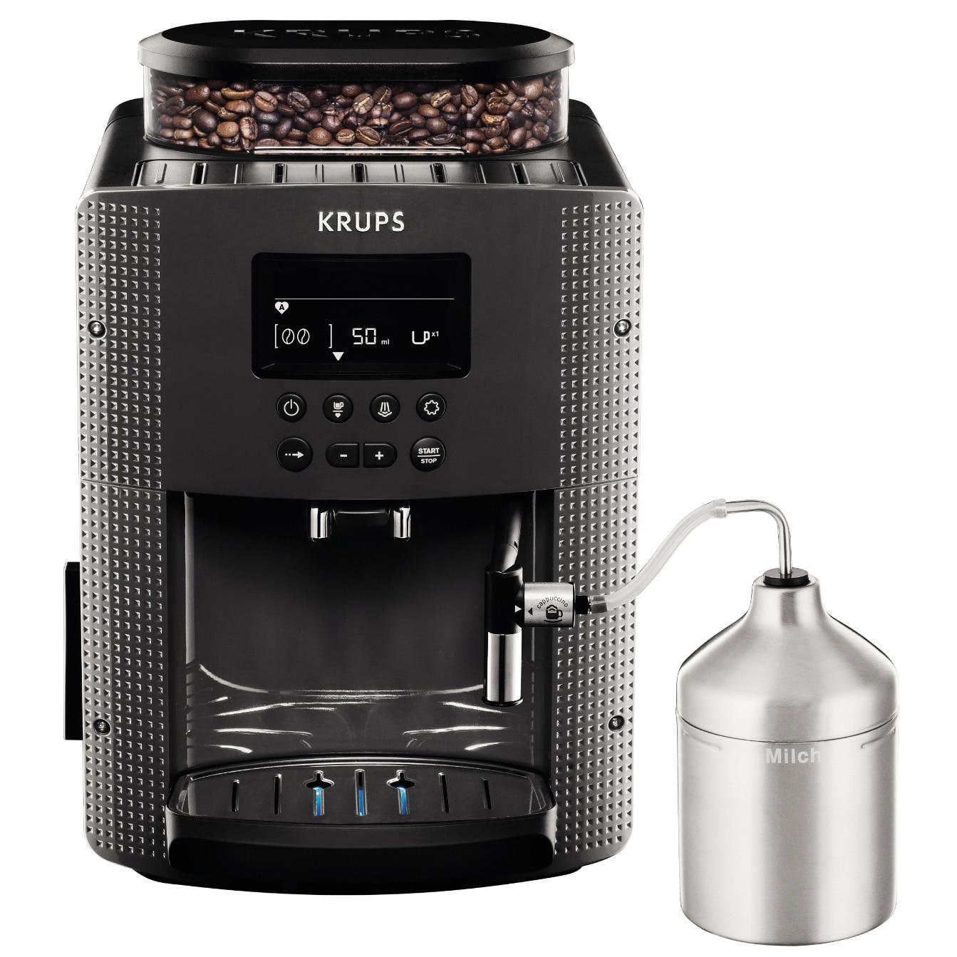 Fotografie Espressor automat Krups Espresseria Automatic EA816B, 1450W, 15 bar, 1.7 l, Gri