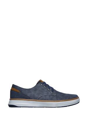 Skechers, Pantofi casual din denim Moreno, Bleumarin, 40