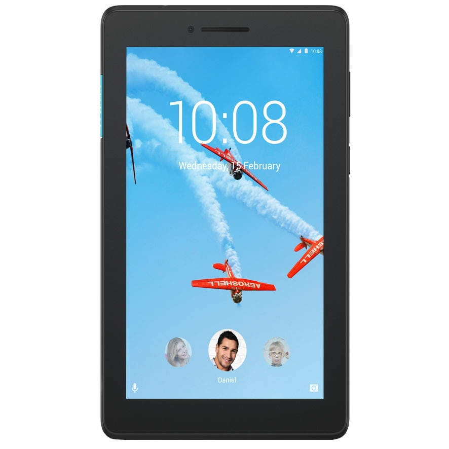 "Fotografie Tableta Lenovo Tab E7 TB-7104F, Quad Core 1.3GHz, 7"", 1GB RAM, 16GB, Wi-Fi, Slate Black"