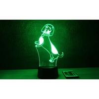 Tacskó mintás lámpa, távirányítóval