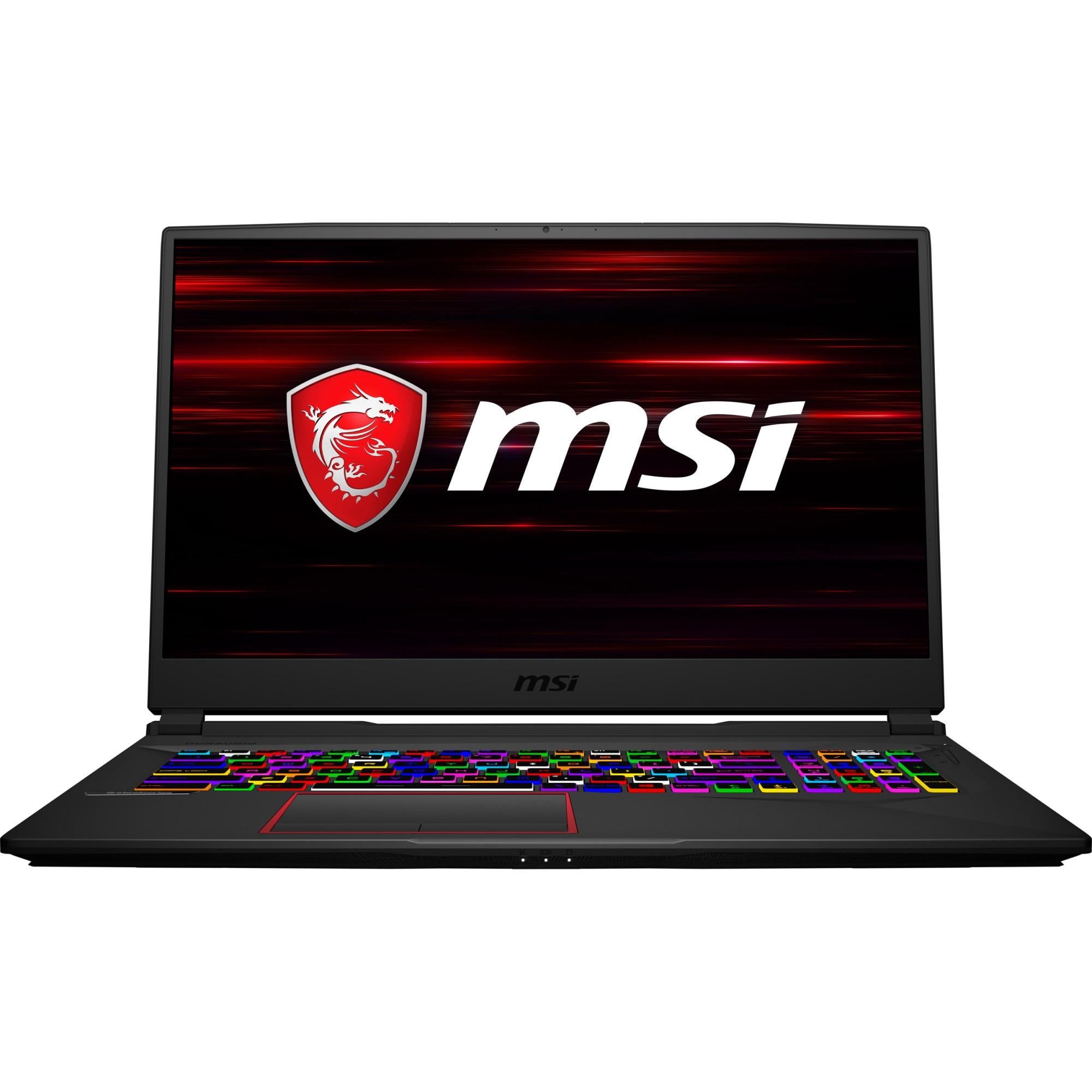 "Fotografie Laptop Gaming MSI GE75 Raider 8SF cu procesor Intel® Core™ i7-8750H pana la 4.10 GHz, Coffee Lake, 17.3"", Full HD, 144Hz, 3ms, IPS, 16GB, 1TB + 256GB SSD, NVIDIA GeForce RTX 2070 8GB, Free DOS, Black"