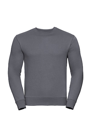 Férfi pulóver hosszú ujjú Russell Europe Authentic Set-In Sweatshirt Konvoj szürke XS INTL