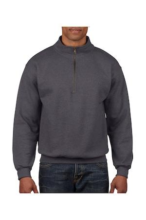 Férfi pulóver Gildan Vintage 1/4 Zip Sweat Tweed 3XL INTL