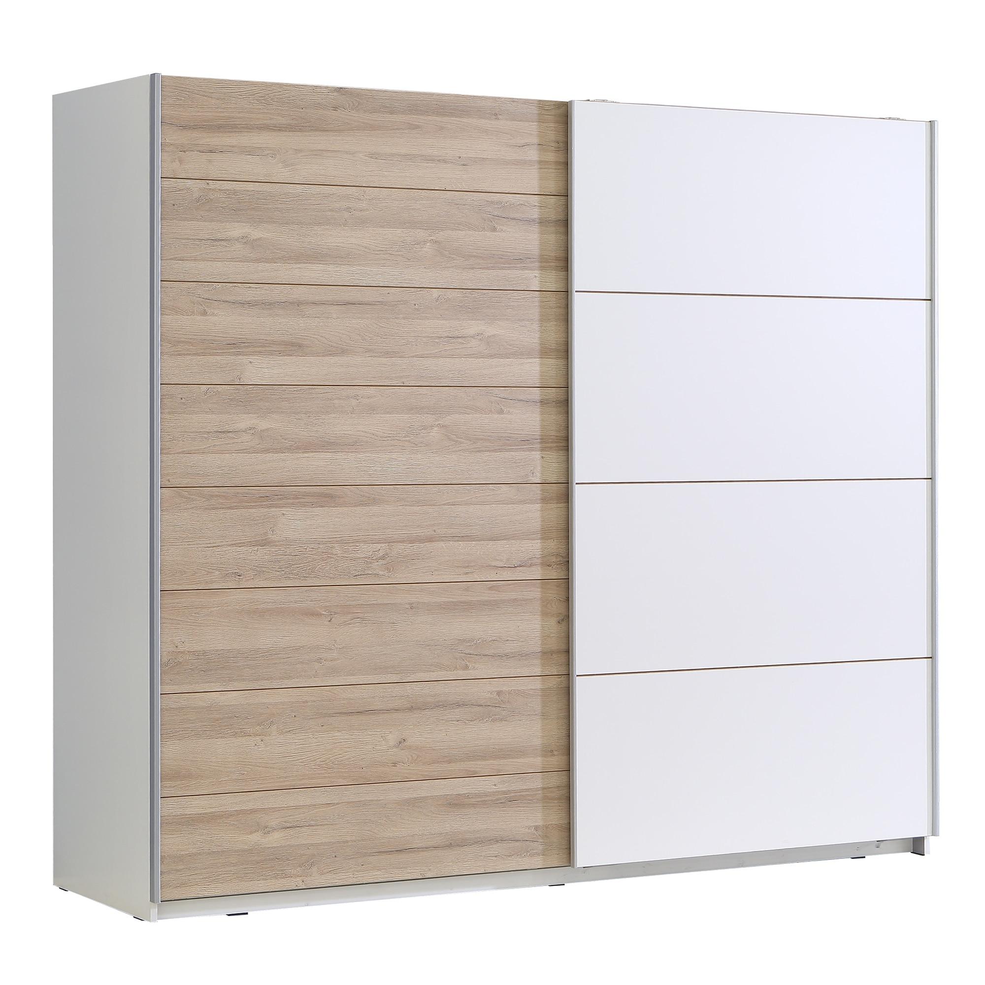 Fotografie Dulap Kring Mercur,alb/ stejar, 200x210x62 cm