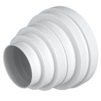 Reductie circulara universala concentrica, Ø160/150/125/120/100/80 mm