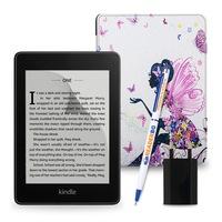 Комплект: eBook четец Kindle Paperwhite (2018), 8GB, Черен + Калъф Silk, Фея
