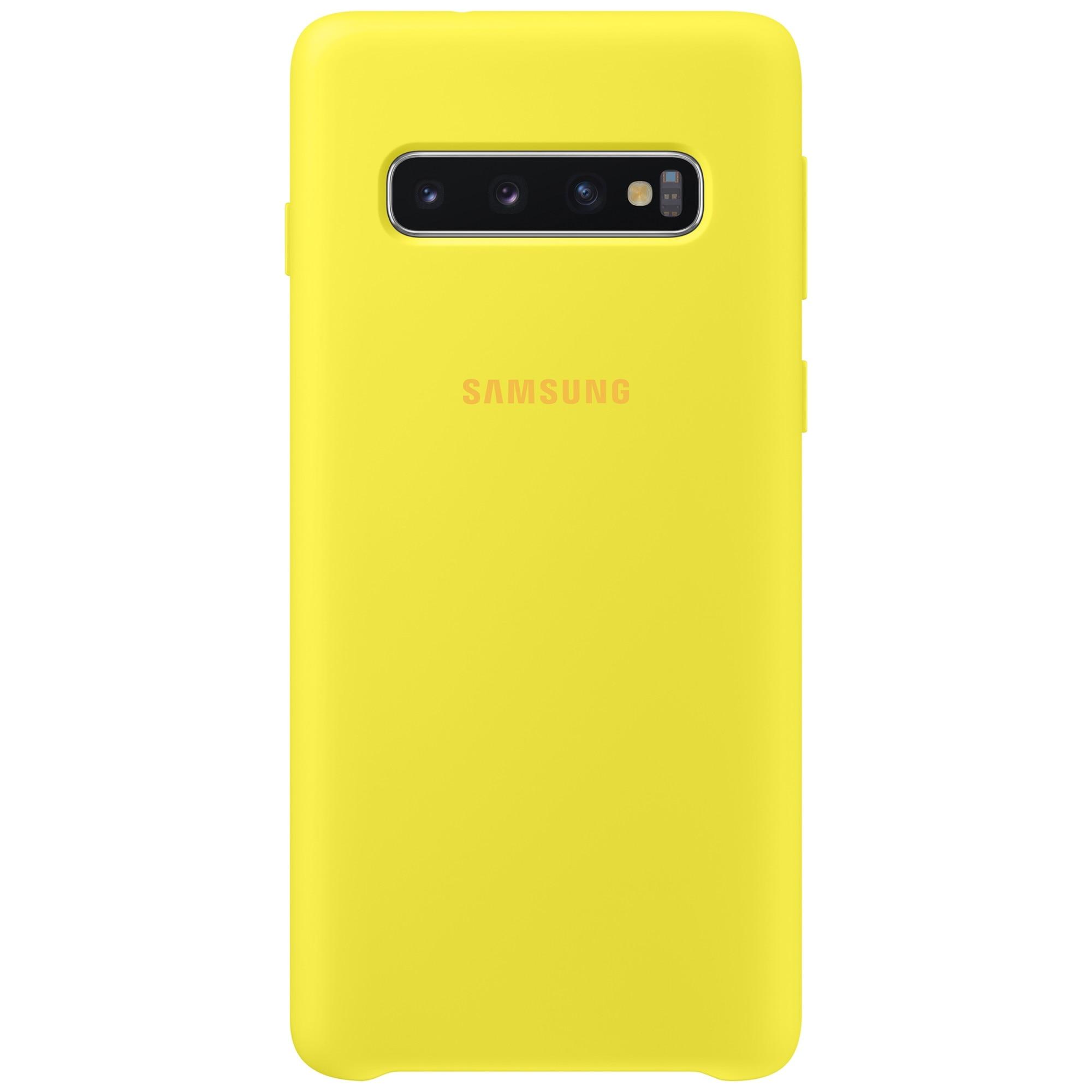 Fotografie Husa de protectie Samsung Silicone pentru Galaxy S10 G973, Yellow