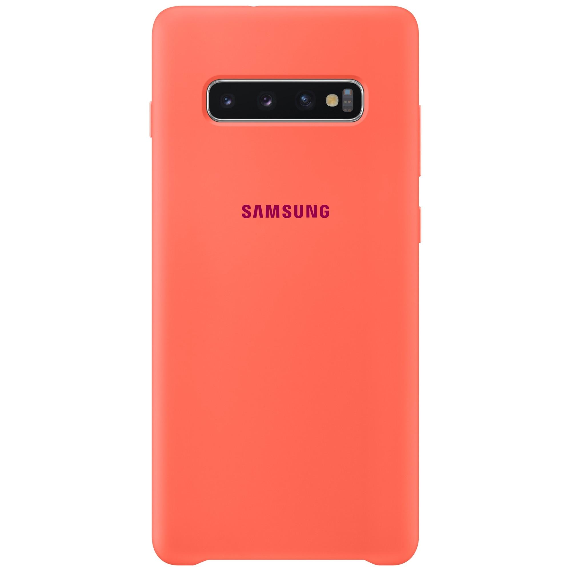 Fotografie Husa de protectie Samsung Silicone pentru Galaxy S10 Plus G975, Berry Pink