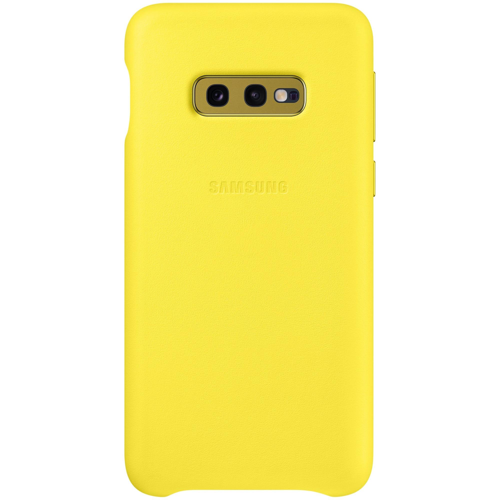 Fotografie Husa de protectie Samsung Leather pentru Galaxy S10e G970, Yellow
