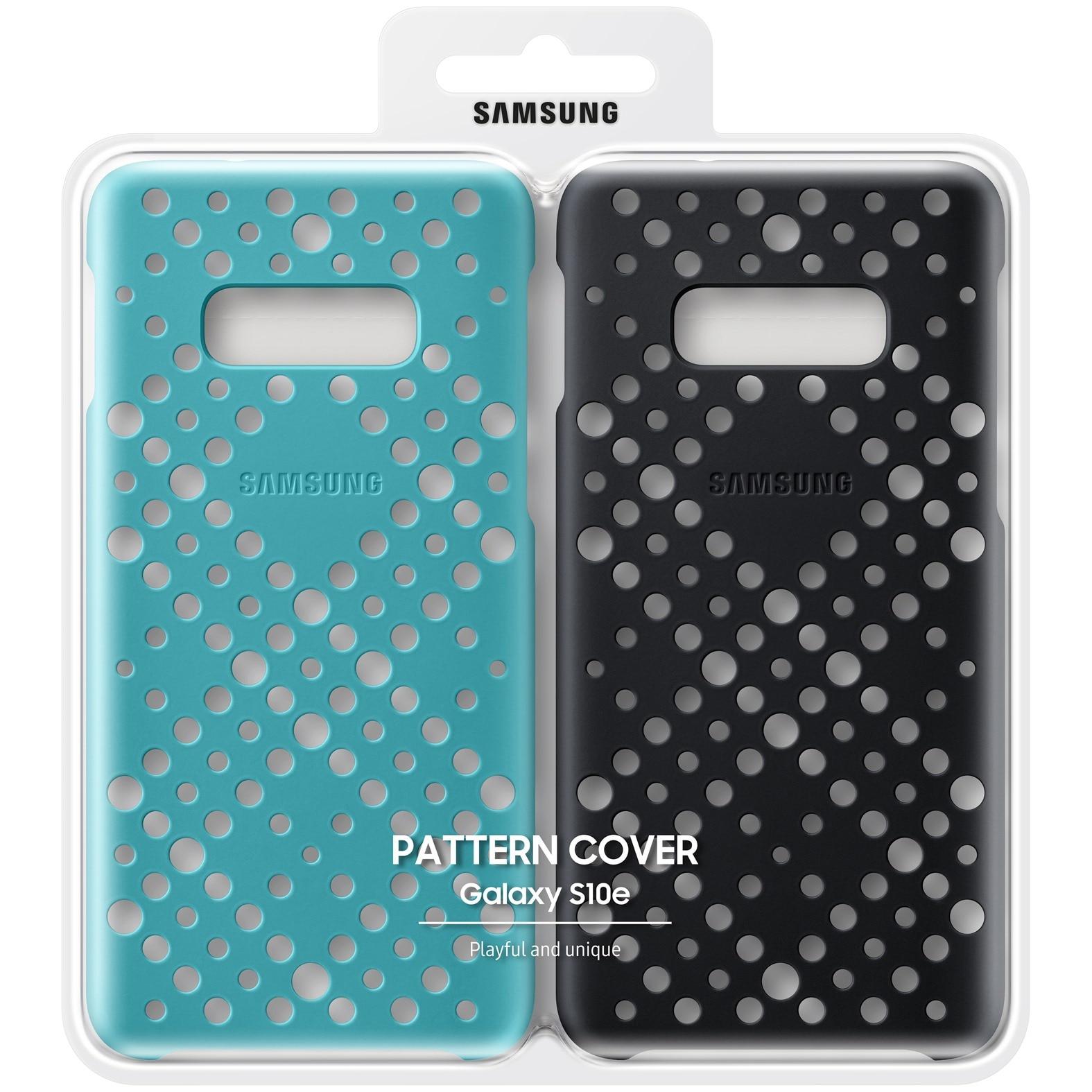 Fotografie Husa de protectie Samsung Pattern (Twin pack) pentru Galaxy S10e G970, Black/Green