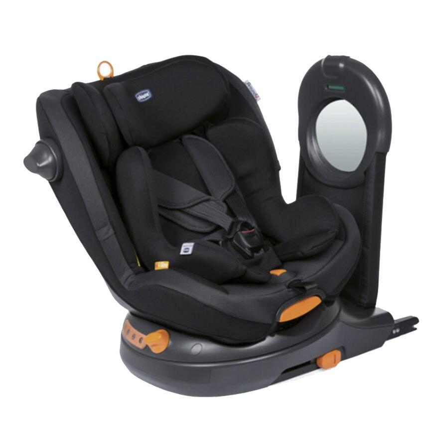 Fotografie Scaun auto i-Size Chicco Around U Jet Black, rotativ, 40-105 cm, Negru