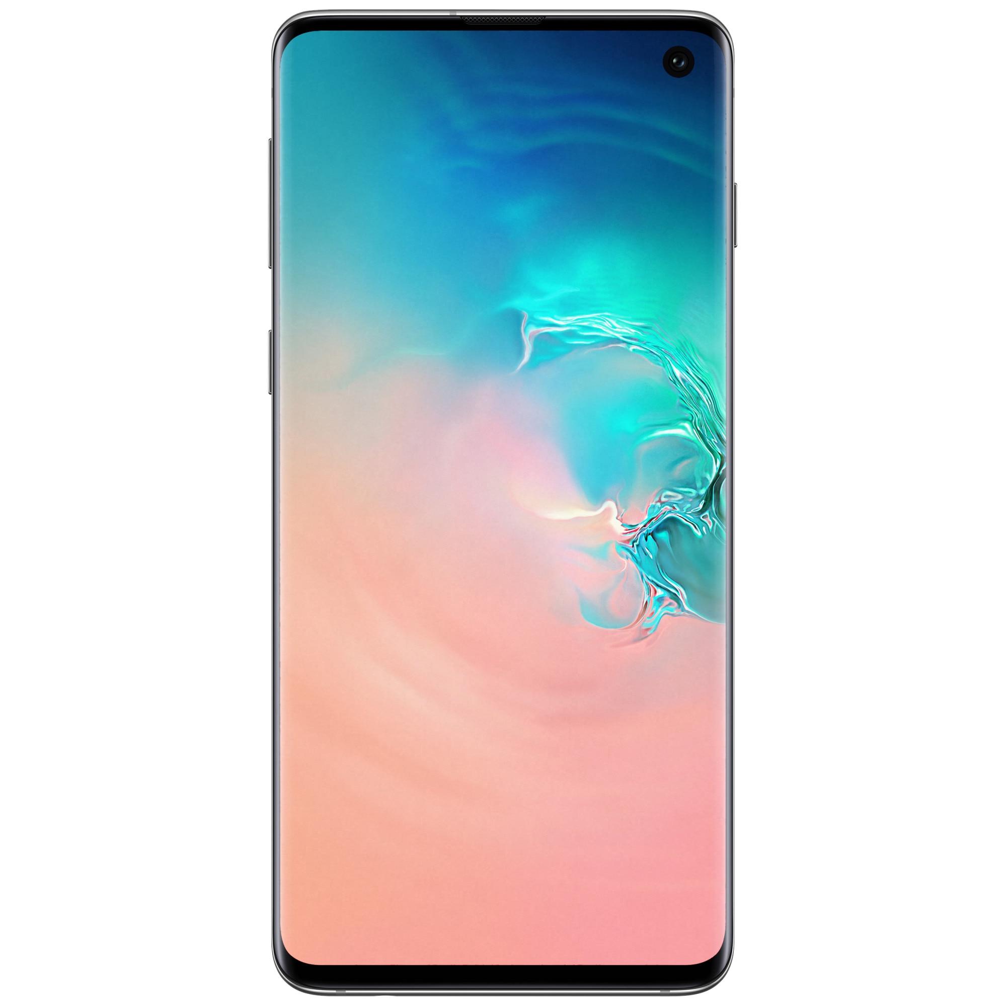 Fotografie Telefon mobil Samsung Galaxy S10, Dual SIM, 128GB, 8GB RAM, 4G, Prism White
