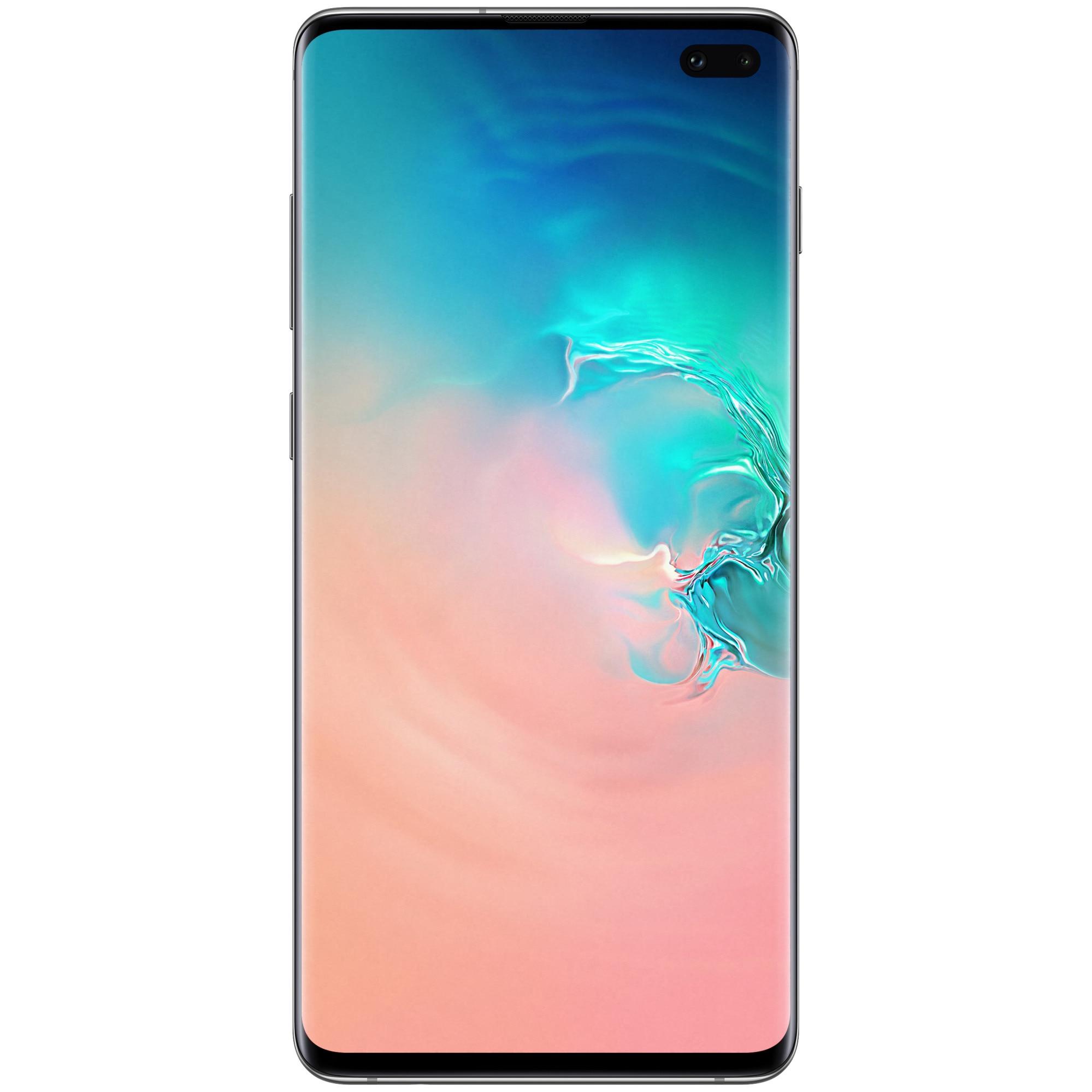 Fotografie Telefon mobil Samsung Galaxy S10+, Dual SIM, 1TB, 12GB RAM, 4G, Ceramic White