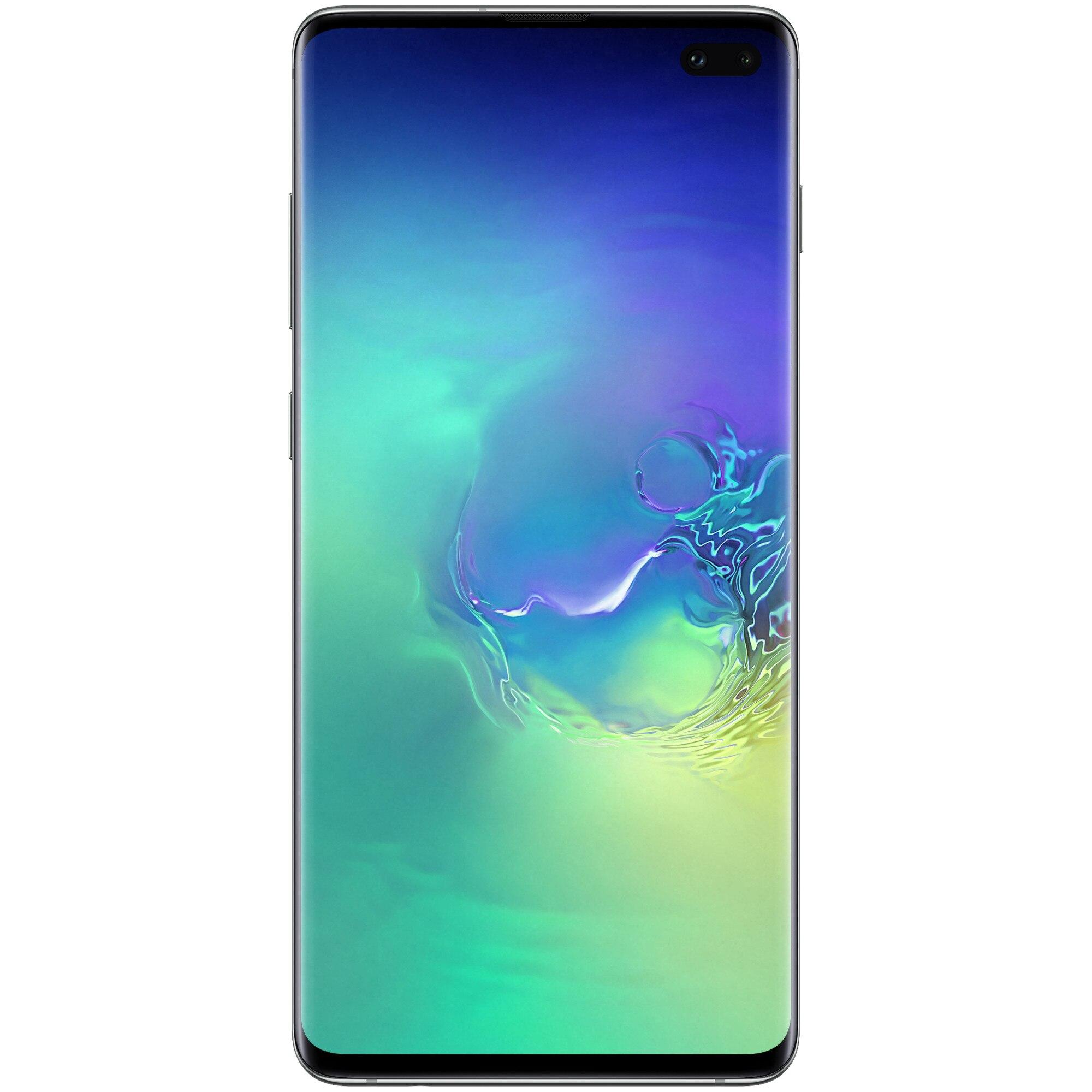 Fotografie Telefon mobil Samsung Galaxy S10+, Dual SIM, 128GB, 8GB RAM, 4G, Green
