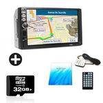 Комплект Мобилен стерео MP5 Player , 7 инча touchscreen +SD card 32 GB Sandisk и мултимедия за кола .OEM с камера за задно виждане 7010B