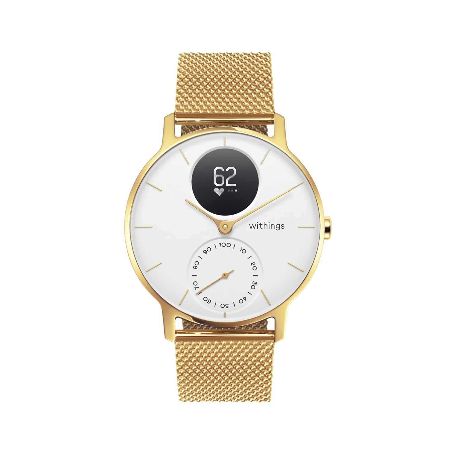 Fotografie Ceas smartwatch Withings Steel HR, 36mm, Limited Edition, Champagne Gold/White