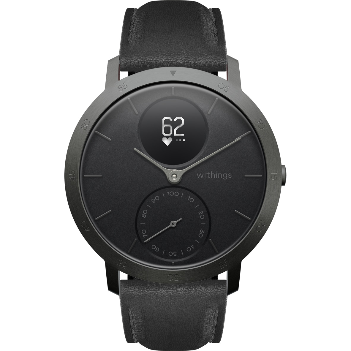 Fotografie Ceas smartwatch Withings Steel HR, 40mm, Limited Edition, Slate Grey/Black