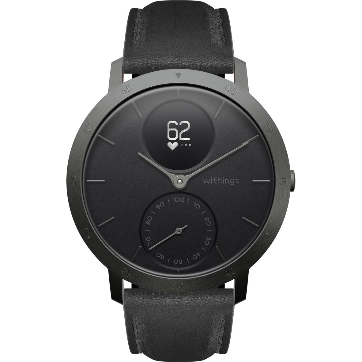 Fotografie Ceas smartwatch Withings Steel HR, 40mm, Limited Edition, Slate Grey/Black