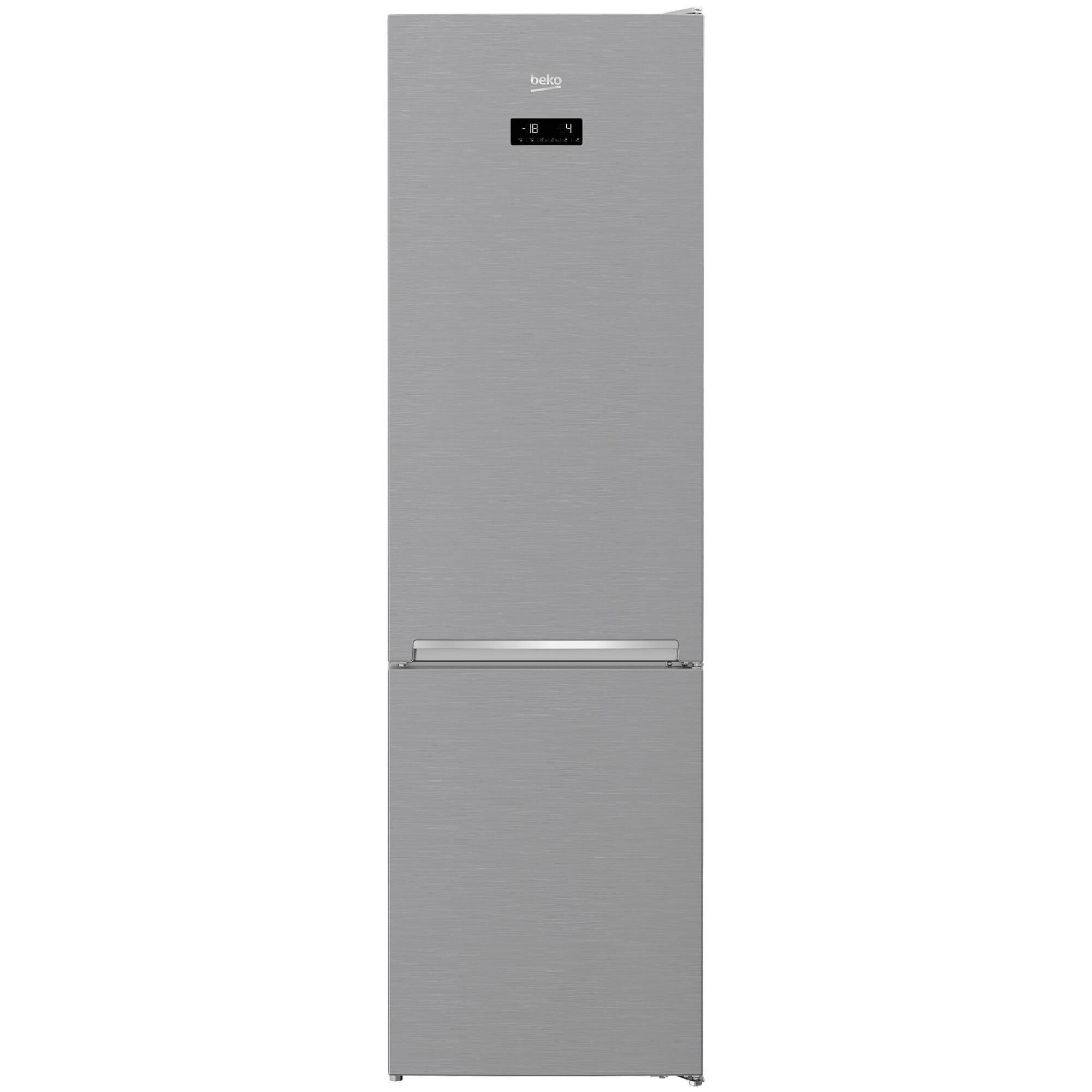 Fotografie Combina frigorifica Beko RCNA406E40XB, 362 l, Clasa A+++, H 203 cm, NeoFrost Compartiment 0°C, Kitchen Fit, 203 cm, Argintiu