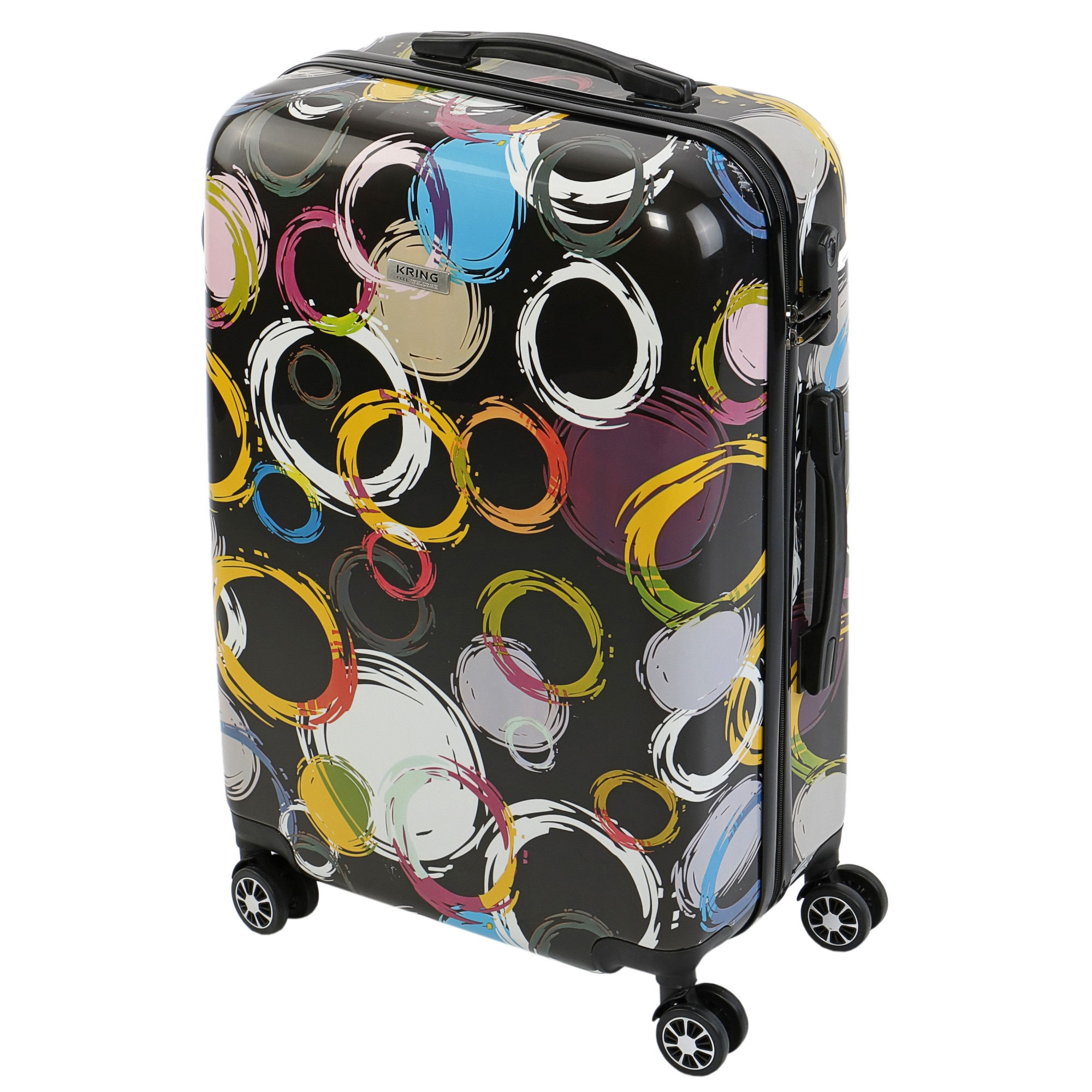 Fotografie Troler KRING Circles, ABS+PC, 65 cm, Multicolor