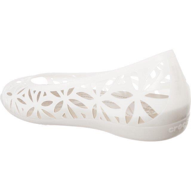 Sandały Crocs Isabella Jelly II Flat OysterCobblestone (204941 1C4) rozmiar W8 38 39