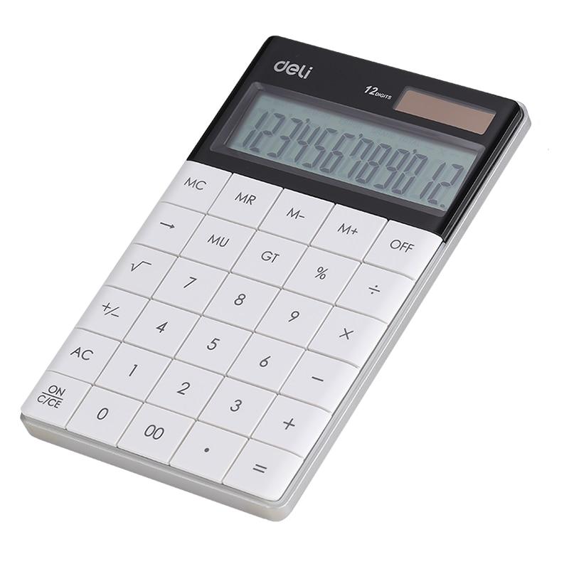 Fotografie Calculator Birou Deli Modern, 12 digiti, alb