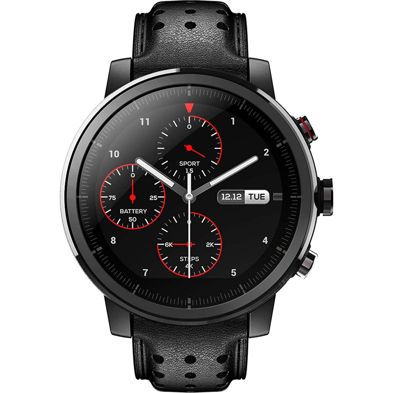 Fotografie Ceas smartwatch Amazfit Stratos 2S, Sapphire, Leather Black