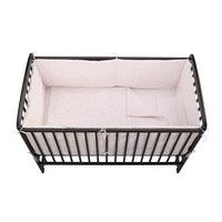 Babyneeds Ágynemű készlet, 5 darabos, 120x60 cm, Fehér/Rózsaszín