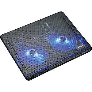 """Cooler laptop Serioux NCP007, 10-15.6"""", 2 ventilatoare, USB, negru"""