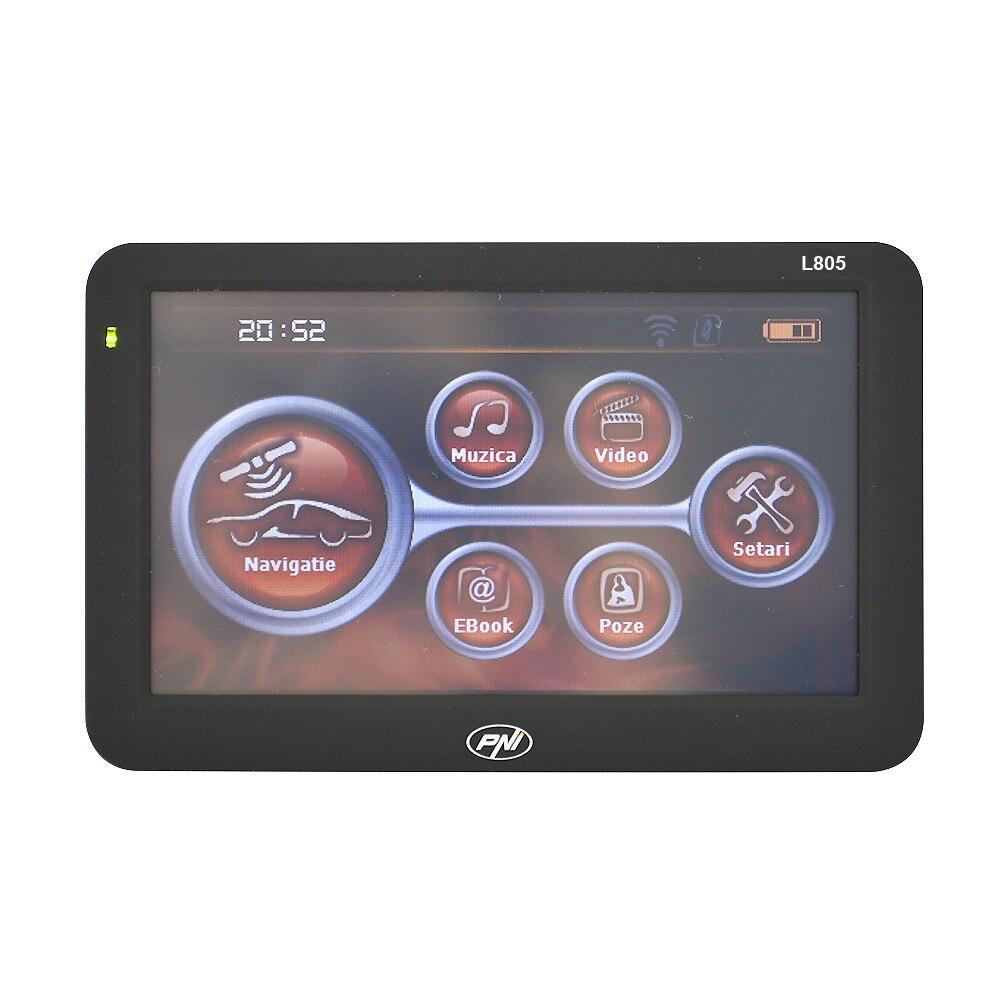 Fotografie Sistem de navigatie portabil PNI L805 ecran 5 inch, 800 MHz, 256M DDR3, 8GB memorie interna, FM transmitter