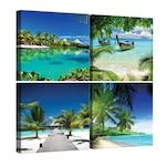 Сет Картина Канава DEGRETS 78612 Екзотични плажове 2 50x50см, 4 части (4 x 25 x 25 см)