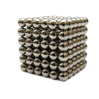 Zanox képességfejlesztő játék, Neocube 216 mágneses golyók, ezüst, 5mm