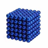 Zanox képességfejlesztő játék, Neocube 216 mágneses golyók, kék, 5mm