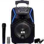 Boxa Bluetooth activa cu telecomanda, portabila, 300 W, tip troller bass puternic , microfon Bluetooth, Bluetooth, AUX, Radio Fm, USB