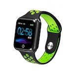 Safako SWP10 okosóra, fekete- zöld színben, unisex, IP67, Android és iOS, pulzusmérő, alvásmonitorozás, lépésszámláló