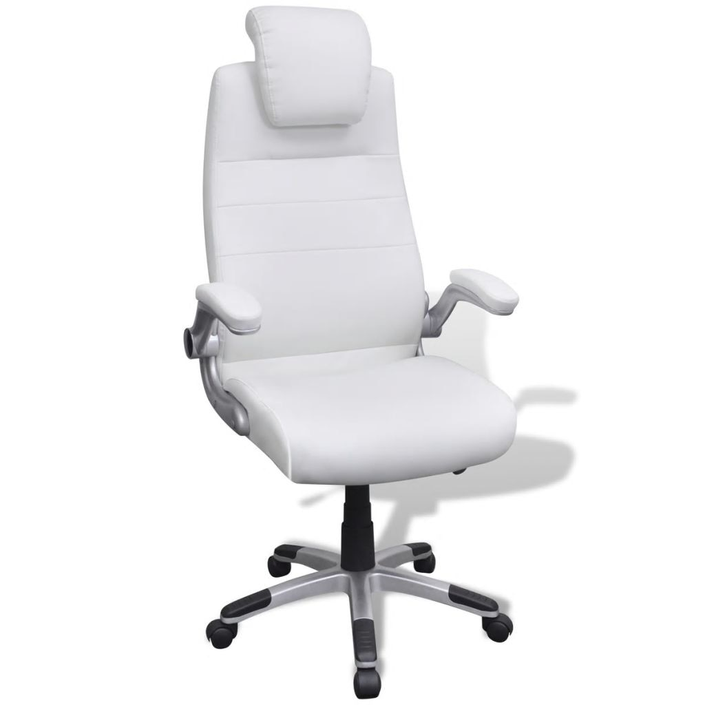 főnöki szék fehér bőr