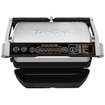 Tefal OptiGrill+ GC706D34 Elektromos kontaktgrill, 2000 W, 6 automata program, kiolvasztás funkció, Rozsdamentes acél/Fekete