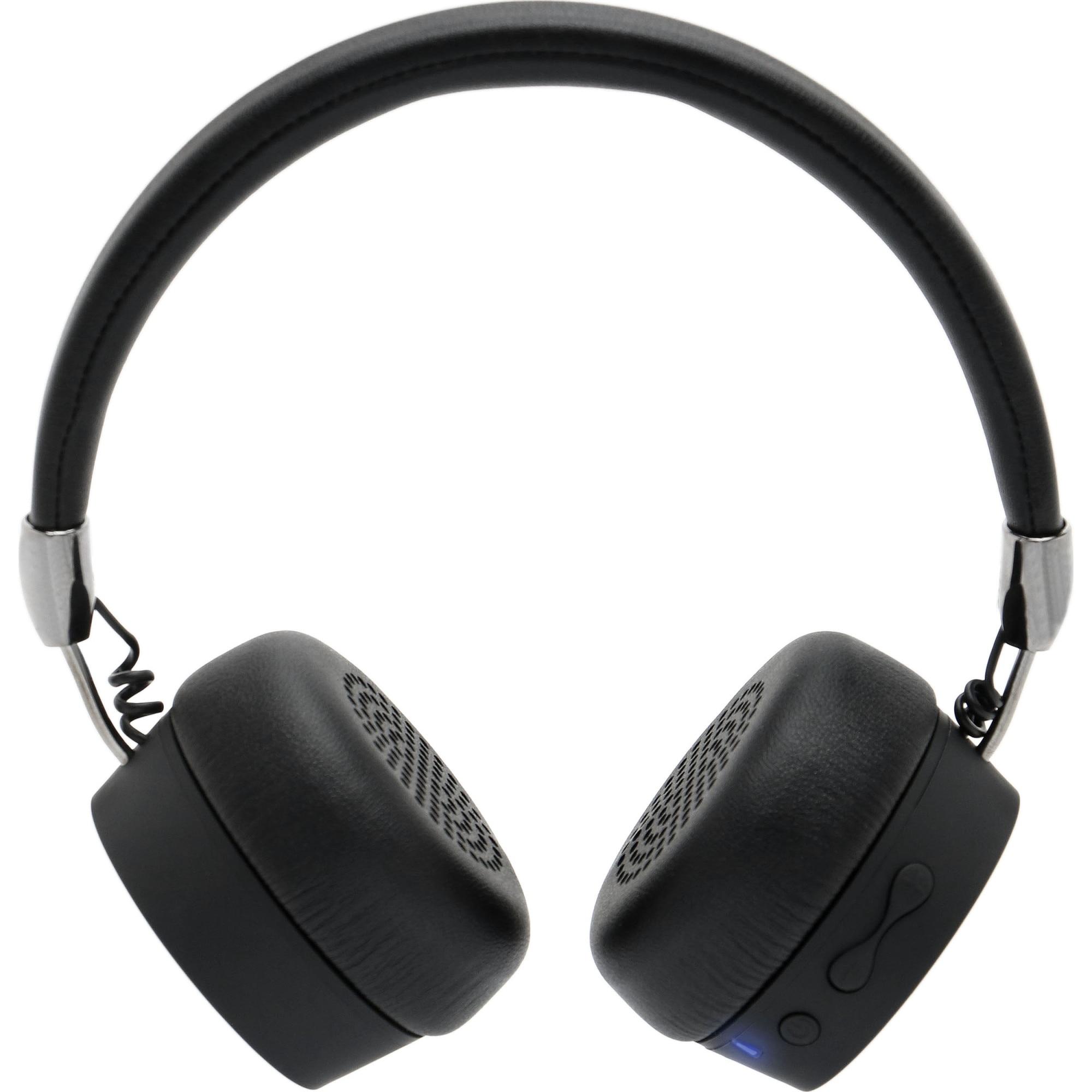 Fotografie Casti Audio On Ear A+ SBG5, Wireless, Bluetooth, Autonomie 10h, Negru