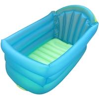 Felfújható gyerek fürdőkád kék-zöld