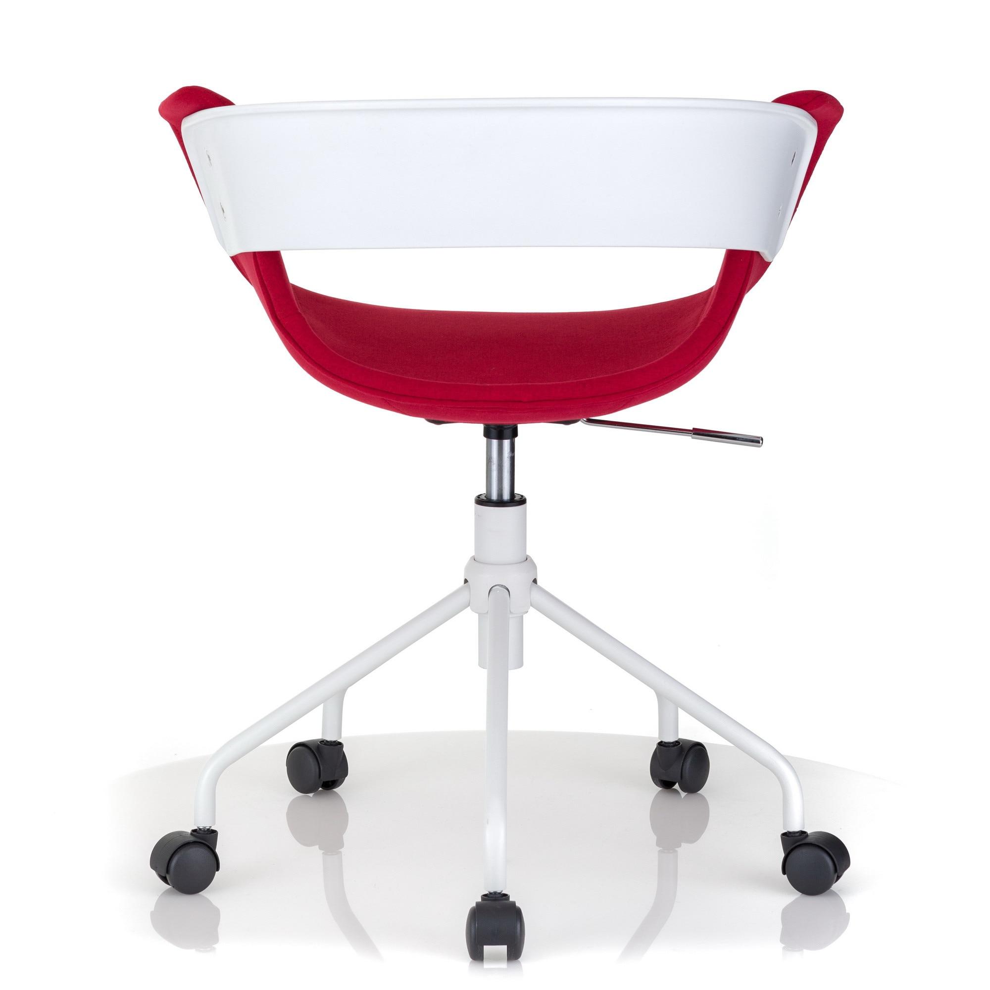QMOBILI Charon Fekete irodai szék, szövet, fehér fém alap