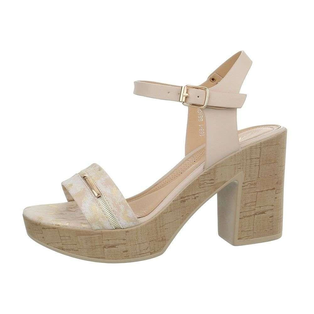 preț rezonabil cumpărare acum pantofi clasici Sandale cu toc, Maxine, FSD217635CMD, bej, toc inalt, gros, talpa platforma,  38 EU - eMAG.ro