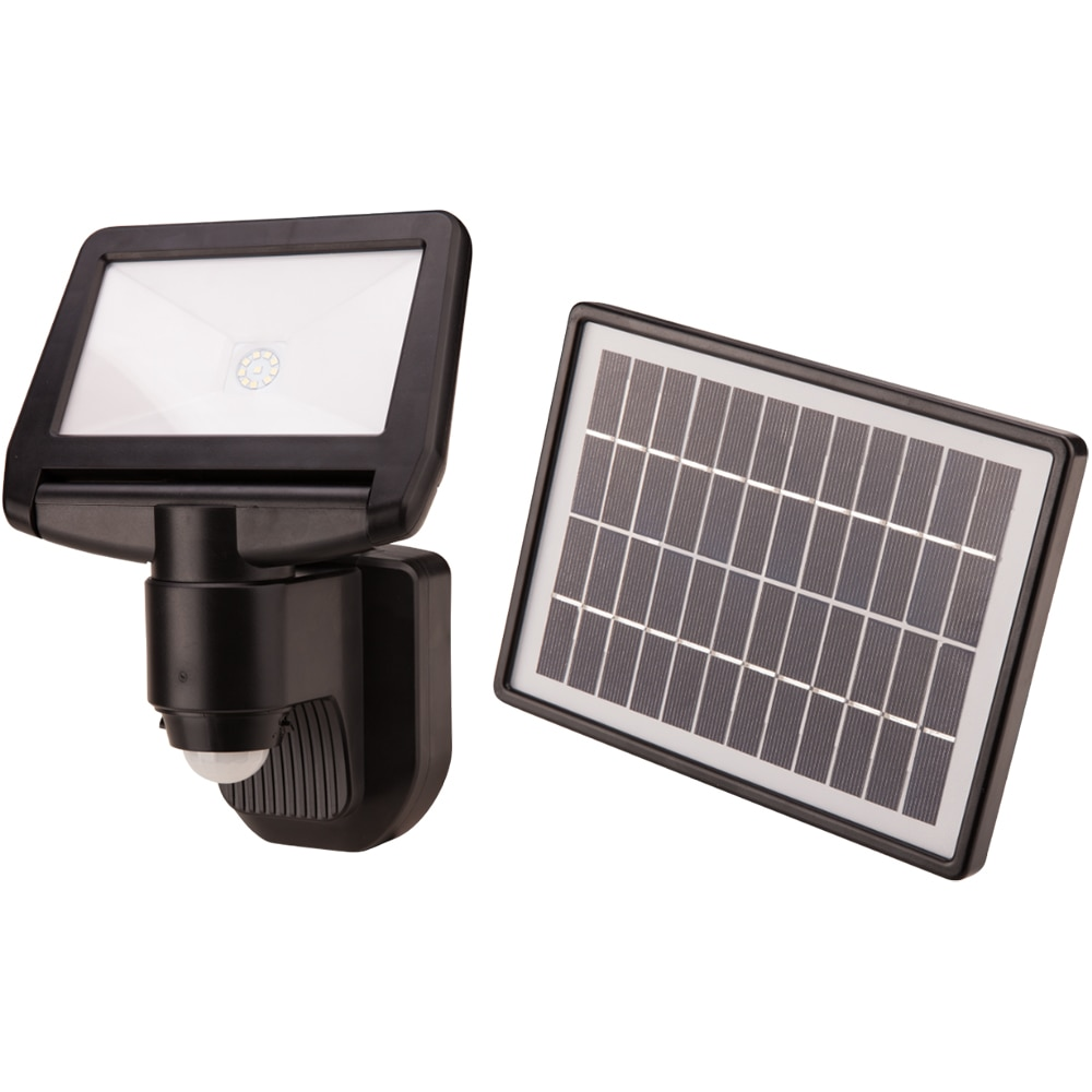 Fotografie Proiector LED solar pentru exterior Evotools HGT, senzor miscare, 10W, 900 lm, A+, 6500K, IP44, acumulator Li-ion 7.4V 1800 mAh